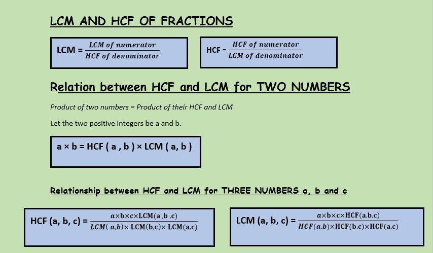 how to find HCF and LCM of two numbers